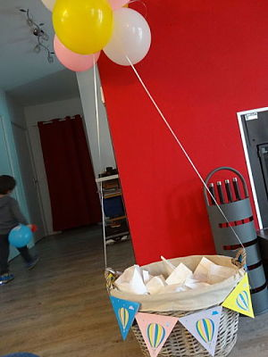 baby shower DIY montgolfiere deco