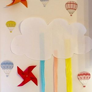 baby shower deco DIY nuage montgolfiere moulin a vent steph lily peony