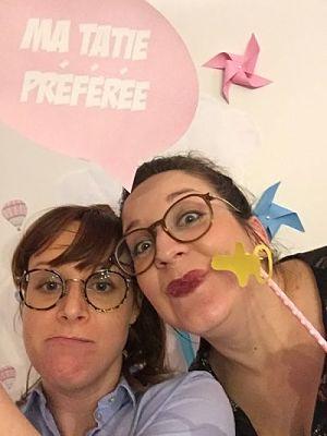 baby shower photobooth soeurs DIY