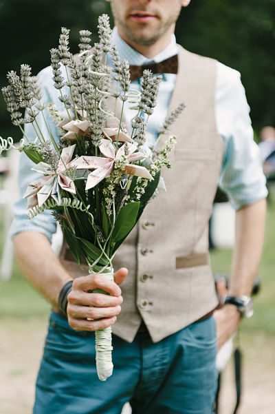 cadeau mariage original bouquet argent
