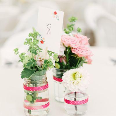 centre de table DIY mariage champêtre et pastel