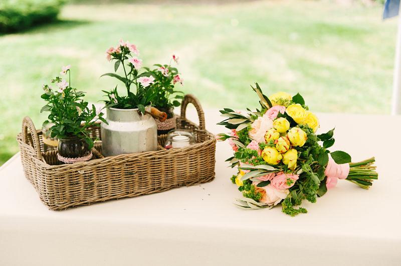 décoration mariage champêtre bouquet