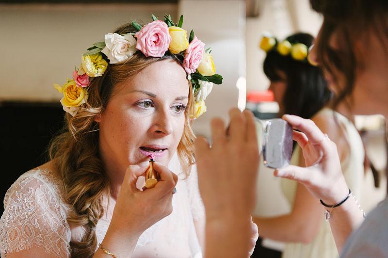 maquillage mariée retouche pastel