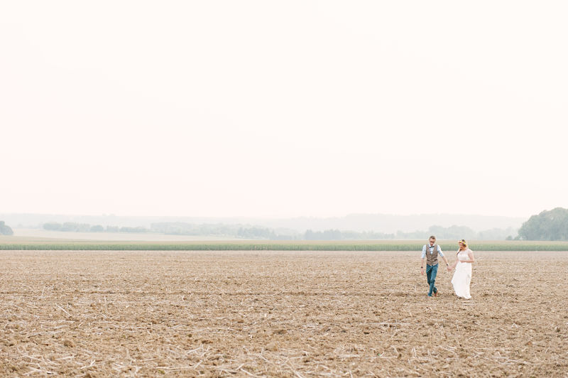 photo couple mariage champêtre