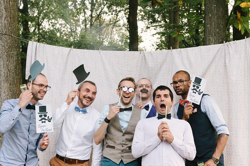 photobooth mariage DIY témoin marié
