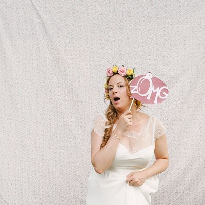 photobooth pastel DIY mariée