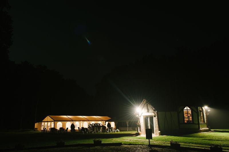 soirée mariage nuit lumière