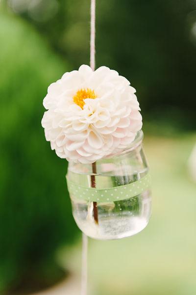 suspension fleur DIY décoration mariage