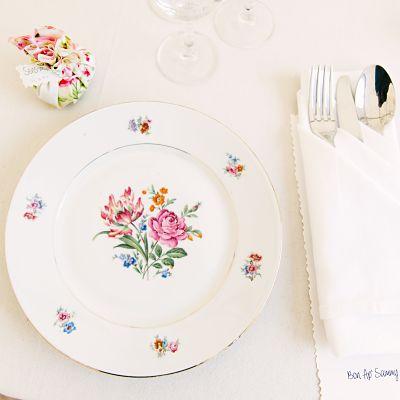 vaisselle chiné mariage