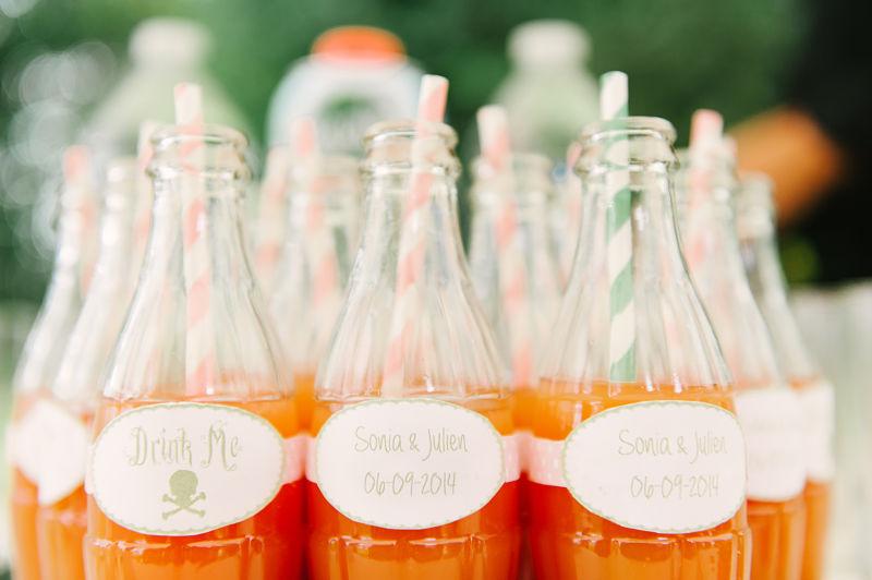 étiquettes bouteilles personnalisées mariage