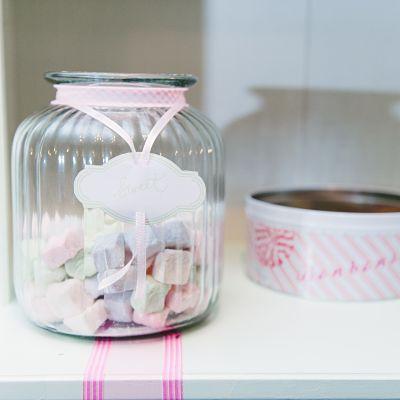 bar à bonbons DIY pastel mariage lily peony