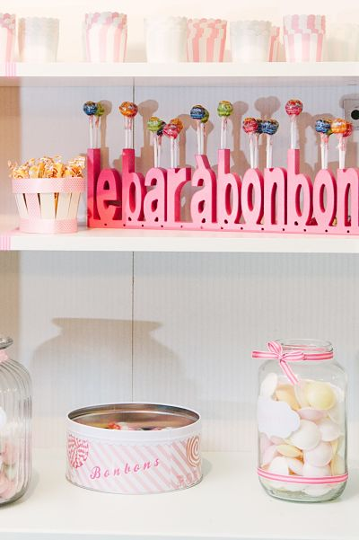bar à bonbons mariage DIY pastel lily peony