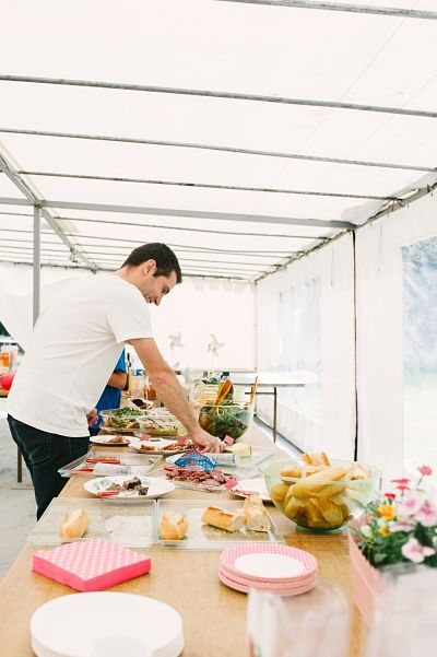 brunch mariage buffet DIY
