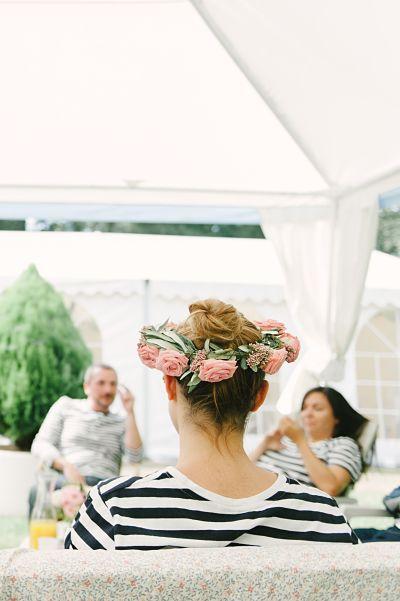 brunch mariage marinière couronne fleurs