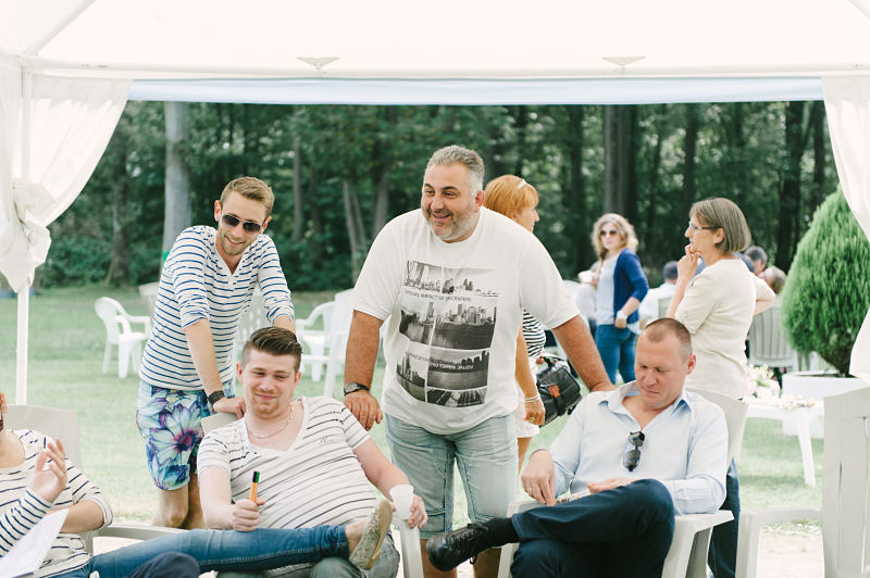 brunch mariage thème marin invités