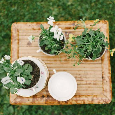 composition fleurs mariage champêtre DIY