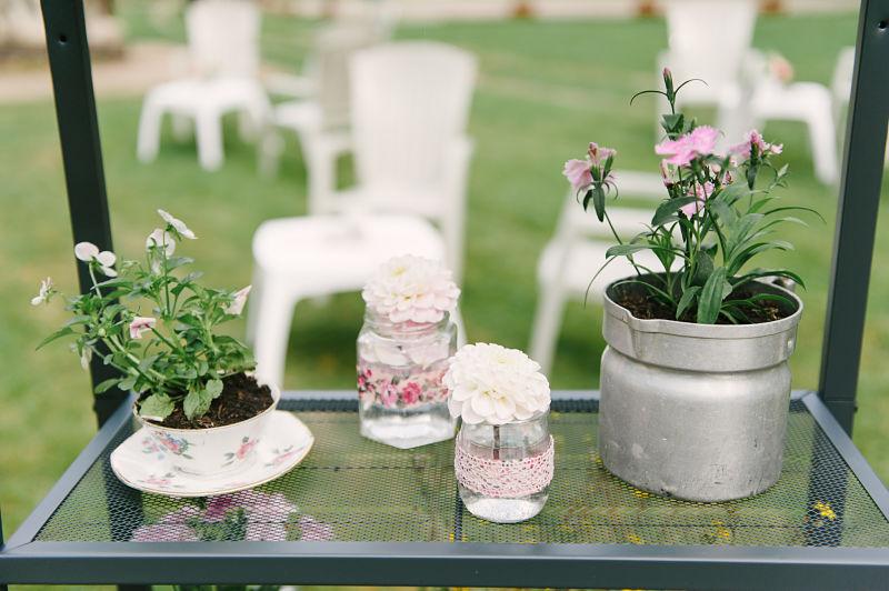 composition fleurs mariage champêtre