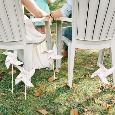 décoration mariage DIY moulin à vent