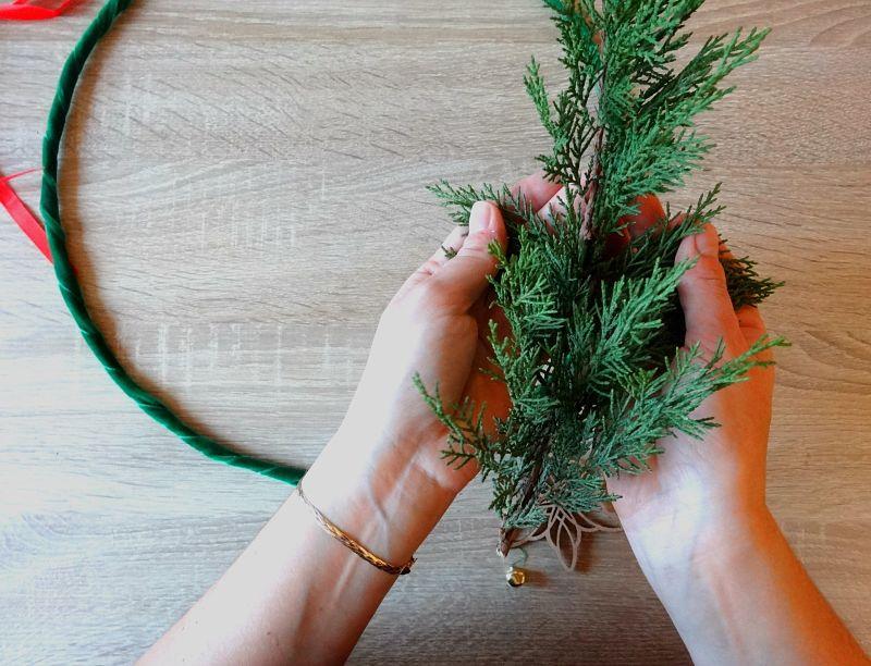 branche sapin pour couronne de noël