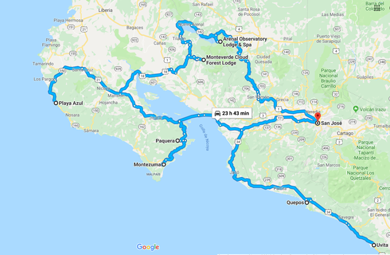 itinéraire 15 jours costa rica