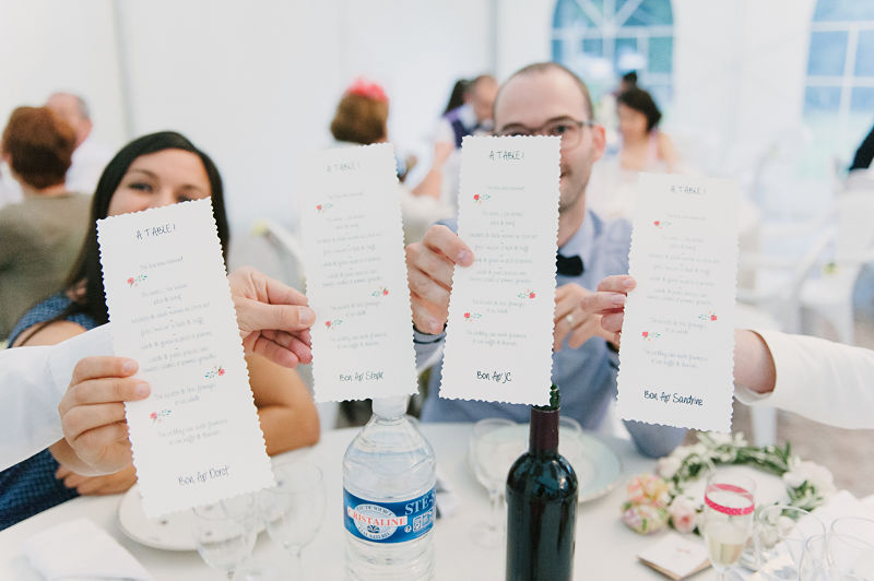 menu personnalisés mariage pastel