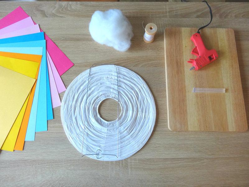 matériel DIY lanterne nuage